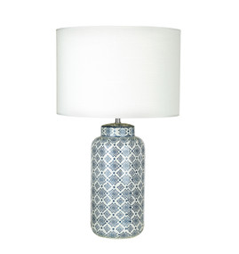 Table Lamp - E27 60W 580mm White and Blue