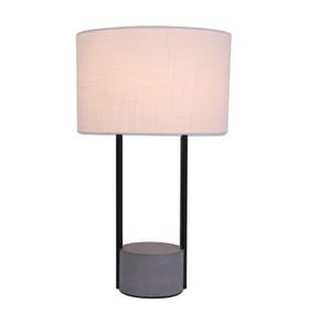 Table Lamp - E27 60W 480mm White and Concrete