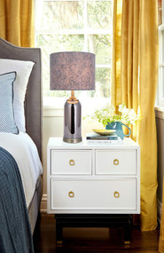 Table Lamp - E27 60W 560mm Grey and Brass