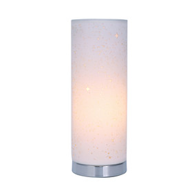 Table Lamp - E27 60W 325mm White and Chrome