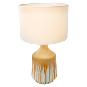 Table Lamp - E27 60W 630mm White and Yellow