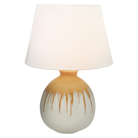 Table Lamp - E27 60W 510mm White and Yellow