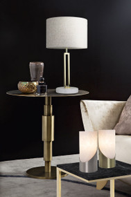 Table Lamp - E27 60W 455mm Grey, Gold and White