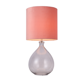 Table Lamp - E27 60W 595mm Pink and Grey