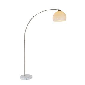 E27 60W Floor Lamp 1680mm White and Satin Chrome