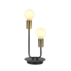 Table Lamp - E27 120W 340mm Antique Brass and Black