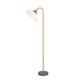 E27 60W Floor Lamp 1800mm White, Silver, Orange and Black