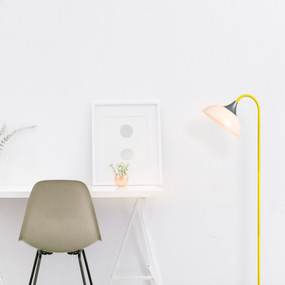 E27 60W Floor Lamp 1800mm White, Silver, Yellow and Black