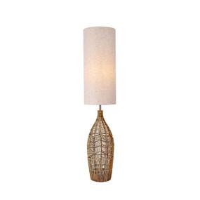 E27 60W Floor Lamp 1300mm White and Hemp