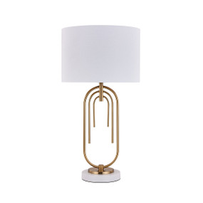 Table Lamp - E27 60W 560mm White and Gold