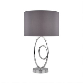 Table Lamp - E27 60W 520mm Grey and Chrome