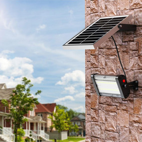Solar Flood Light With Remote Control - 6000lm IP65 IK10 5000K Commercial Strength