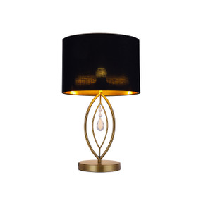 Table Lamp - E27 60W 510mm Black and Brass