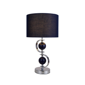 Table Lamp - E27 60W 500mm Navy and Chrome