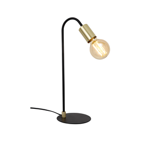 Table Lamp - E27/G80 60W 320lm 2200K 435mm Gold and Black