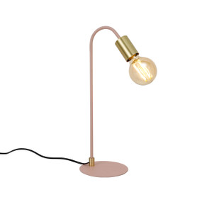 Table Lamp - E27/G80 60W 320lm 2200K 435mm Gold and Pink