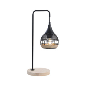 Table Lamp - E27 60W 420mm Natural and Black