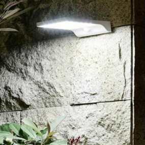 Solar Wall Light With Motion Sensor - Wide Angle, Super Bright 400lm
