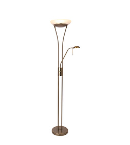 LED 23W Floor Lamp 2100lm 3000K 1800mm Antique Brass