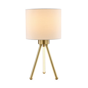 Table Lamp - E14/LED 40W 500lm 3000K 410mm White and Brass