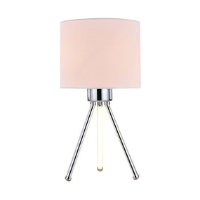 Table Lamp - E14/LED 40W 500lm 3000K 410mm White and Chrome