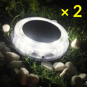 Solar Deck Lights or Step Lights - Kit of 2 IP67 Cool White