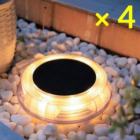 Solar Deck Lights or Step Lights - Kit of 4 IP67 Warm White