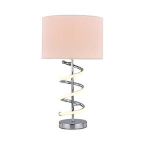 Kudri Table Lamp - E27/LED 60W 500lm 3000K 490mm White and Chrome