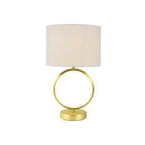 Table Lamp - E27/LED 60W 500lm 3000K 450mm White and Brass