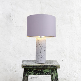 Table Lamp - E27 60W 480mm Purple and White