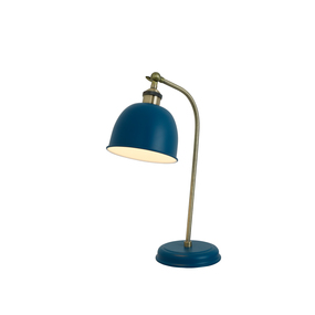 Desk Lamp - E27 60W 450mm Blue and Brass