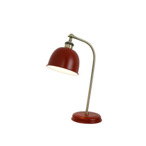 Desk Lamp - E27 60W 450mm Red and Brass