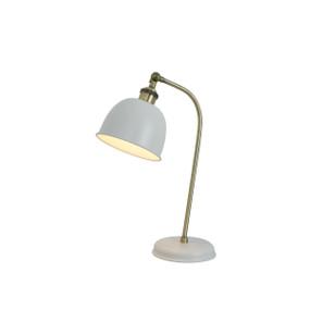 Desk Lamp - E27 60W 450mm White and Brass