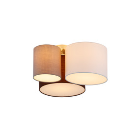 Ceiling Light - E27 180W 600mm White, Grey and Brown