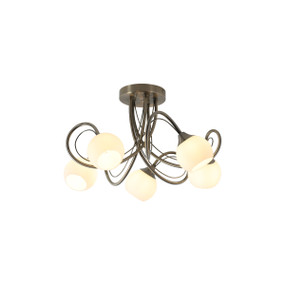 Ceiling Light - G9 16.5W 310lm 2700K 520mm Antique Brass and White