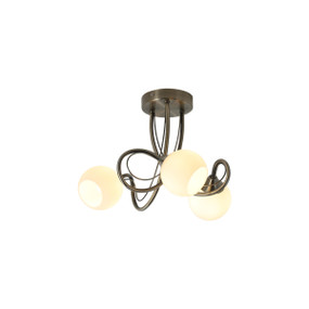 Ceiling Light - G9 9.9W 310lm 2700K 380mm Antique Brass and White