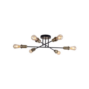 Ceiling Light - E27 360W 710mm Antique Brass and Matte Black