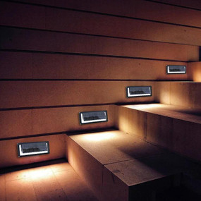 Solar Step or Wall Light - White Light Commercial Grade