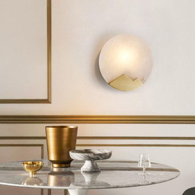 Sconce - E14 200mm Brass and White