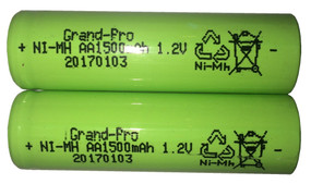 Replacement Rechargeable Battery For Solar Light - 1.2V 1500mAh