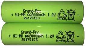 Replacement Rechargeable Battery For Solar Light - 1.2V 2000mAh