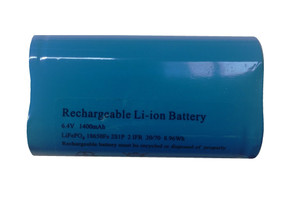 Replacement Rechargeable Battery For Solar Light - 6.4V 1400mAh