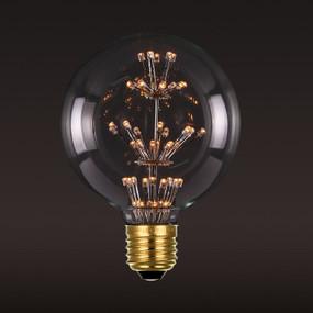 E27 LED Firework Globe - 2W IP20 2400K 120mm Clear