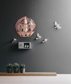 Pendant Light - E27 60W 320mm Copper