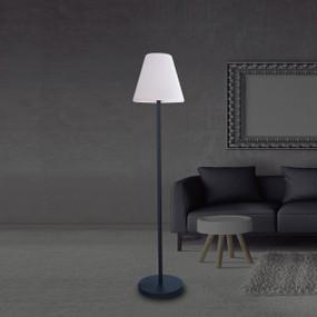 Solar Floor Lamp - LED 800lm IP44 3000K 1500mm White and Black DC