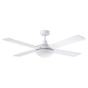 Ceiling Fan With Light - 132cm 52inch Tri Colour 60W White 3 Speed