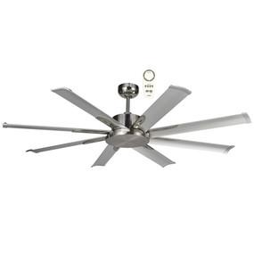 Majo Ceiling Fan - 165cm 65inch 35W Brushed Nickel 5 Speed