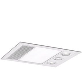 3-in-1 Bathroom Heater Fan Light - 396mm White