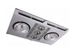 3-in-1 Bathroom Heater Fan Light - 1890lm 3000K 480mm Silver