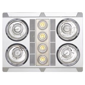 3-in-1 Bathroom Heater Fan Light - 2680lm 3000K 480mm Silver